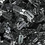 Razor blades background. 3D render of hundreds of razor blades Stock Photography