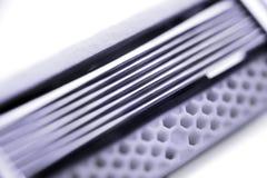Razor blades cartridge extremal close up Stock Photography