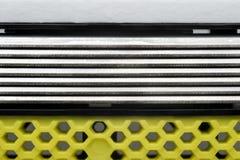 Razor blades macro. Blades cartridge extremal close up Royalty Free Stock Photography