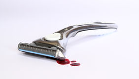 Razor with blood Royalty Free Stock Photos