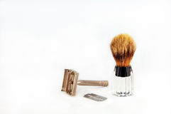 Razor and Brush for Shaving Stock Images