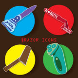 Razor on color circle Royalty Free Stock Photo