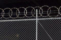 Razor Fence stock photos