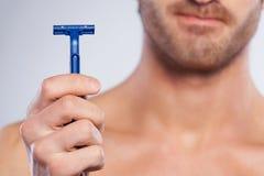 This razor irritates my skin. Royalty Free Stock Images