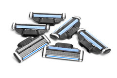 Razor multiple-blade cartridges Royalty Free Stock Photo