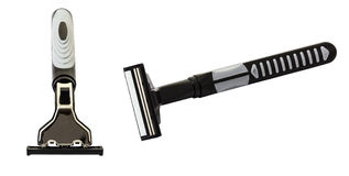 Razor. New Razor isolated on white background and clipping path Stock Photo