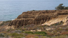 Razor Point. Geology and ocean vista at Razor Point, Torrey Pines State Reserve, San Diego, CA Stock Photography