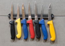 Razor sharp steel knives Royalty Free Stock Photos