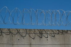Razor wire. Stock Photography