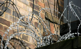 Razor Wire. Security Intruder Protection Stock Images