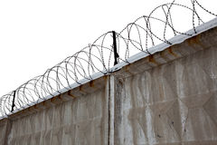 Razor Wire Above a Fence Stock Images
