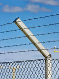 Razor wire fence Stock Images