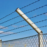 Razor wire fence Royalty Free Stock Photo