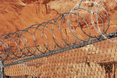 Razor wire fence. Royalty Free Stock Photos