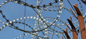 Razor Wire Fence Stock Photos