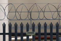 Razor Wire Fence Danger Royalty Free Stock Photography