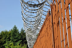 Razor Wire Fence Royalty Free Stock Images