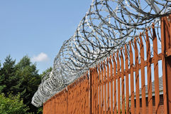 Razor Wire Fence Royalty Free Stock Photos