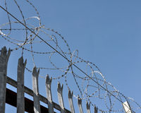 Razor Wire Fence Royalty Free Stock Image