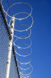 Razor Wire Fence Stock Photo