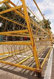 Razor Wire Iron Barrier Stock Photography