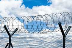 Razor Wire Security Fence Royalty Free Stock Images