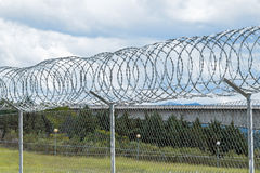 Razor Wire Security Fence Stock Images