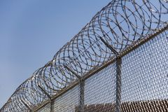 Razor Wire Security Fence_02 Stock Images