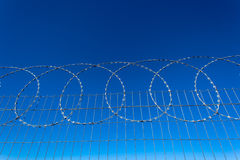 Razor Wire Steel Fencing Stock Photos