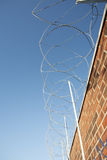 Razor wire on wall Stock Photos