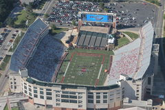 Razorback Stadium. Aerial view of the Razorback Football Stadium. Fayetteville Arkansas Royalty Free Stock Photos