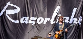 Razorlight ( English indie rock band) performs at FIB Festival Stock Images