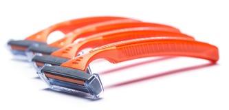 Razors for shaving. Over white background Royalty Free Stock Photo