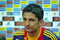 Razvan Lucescu, autocar roumain Photo stock