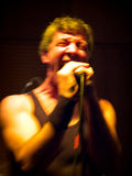 Razvan Moldovan from Partizan. Band performing live in a club Royalty Free Stock Image