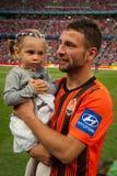 Razvan Rat avec la fille Photo libre de droits