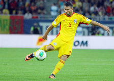 Razvan Rat in Romania-Turkey World Cup Qualifier Game Royalty Free Stock Photography