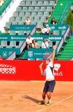 Razvan Sabau. Playing at BRD Nastase Tiriac Trophy against Jonathan Eysseric stock image
