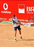 Razvan Sabau. Playing at BRD Nastase Tiriac Trophy against Jonathan Eysseric stock photography