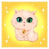 Razza del gatto Gatto di angora royalty illustrazione gratis