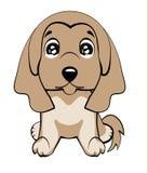 Razza di levriero afgano L'illustrazione di vettore del cane sveglio nello stile piano mostra l'emozione triste Gridare emoji Ico royalty illustrazione gratis
