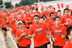 Razza umana di Nike+ (Singapore) Fotografie Stock Libere da Diritti