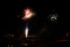 Razzi del fuoco d'artificio Fotografia Stock