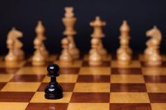 Razzismo di scacchi Fotografie Stock