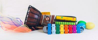 Razzo degli strumenti di ritmo Fotografia Stock