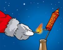 Razzo del Babbo Natale Immagini Stock