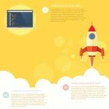 Razzo di Infographic Fotografie Stock