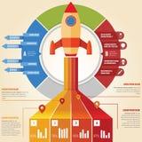 Razzo di Infographic Fotografia Stock Libera da Diritti