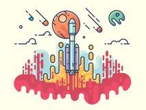 Razzo di lancio in spazio royalty illustrazione gratis