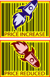 Razzo di valore di prezzi Fotografia Stock
